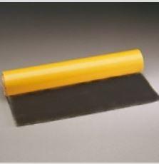 Lámina de tela de toalla ORFILASTIC NEGRA para acolchado de férulas adhesiva 50 cm x 100 cm x 3 mm