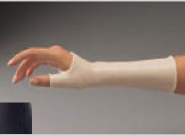 Férula precortada ORFIT COLORS NS (Antiadherente) negro larga de muñeca con pulgar incluido Talla: L 2.0 mm. micro perforada
