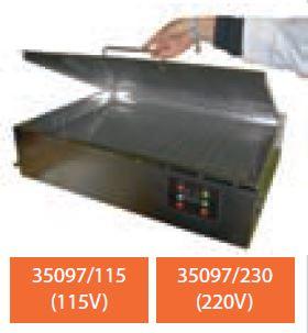 Bañera y calentador de material SUSPAN 1capacidad 30 l. 740 x 540 x 100 mm. (220 V)
