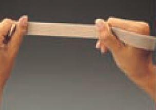 Cinta velcro bucle elástica rollo de 25 m. beige 25 mm.